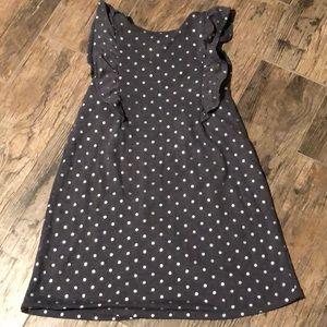Sonoma girls grey jersey polka dot dress